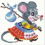 """Превью Чудесная игла Р""""#024 - Мышка (493x500, 241Kb)"""
