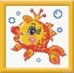 """Превью Чудесная игла Р""""#025 - Золотая рыбка (700x690, 258Kb)"""