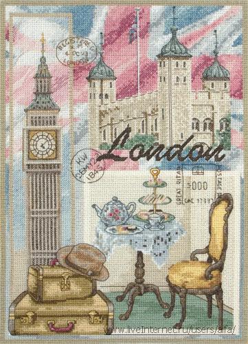 Вышивка крестом, схемы London