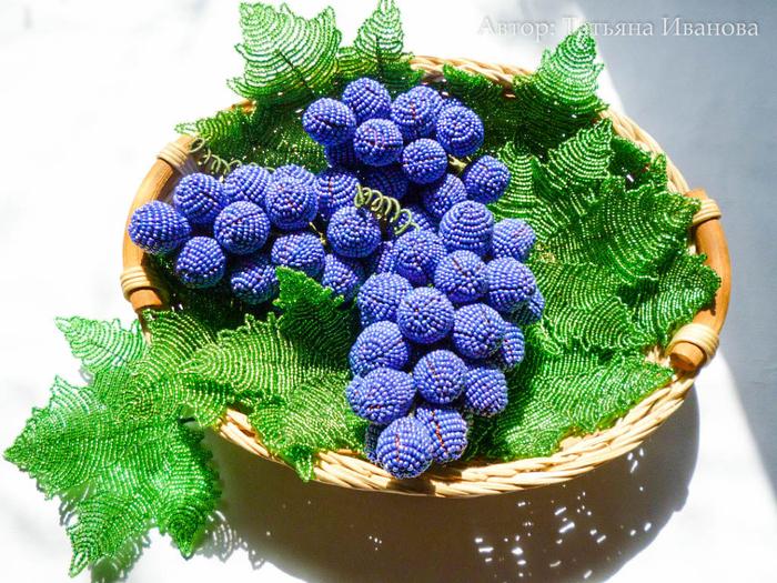 Виноградная лоза из бисера. Мастер-класс (4) (700x525, 585Kb)