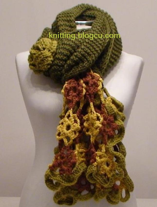Модели вязаных шарфов