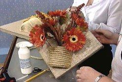Мешковина, джут и цветочный горшок. Идеи декоративных панно (10) (248x167, 52Kb)