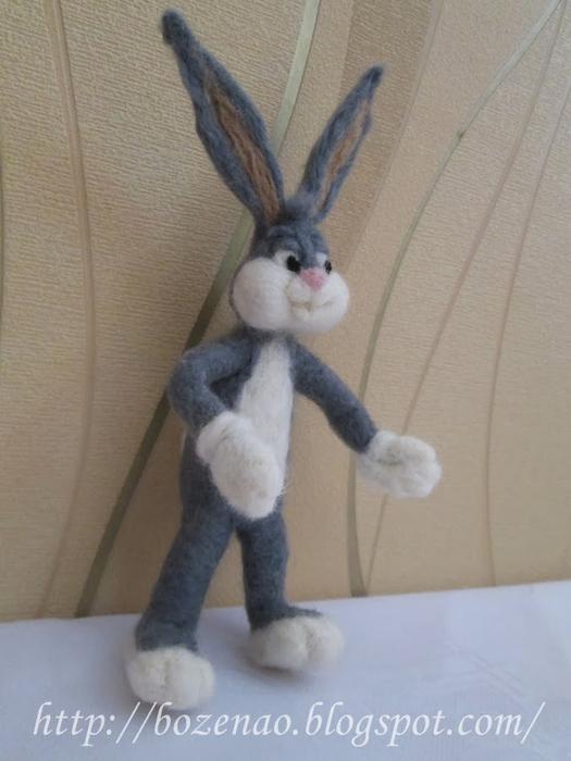 Валяние на проволочном каркасе. Кролики (6) (525x700, 265Kb)