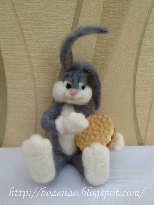 Валяние на проволочном каркасе. Кролики (8) (525x700, 273Kb)