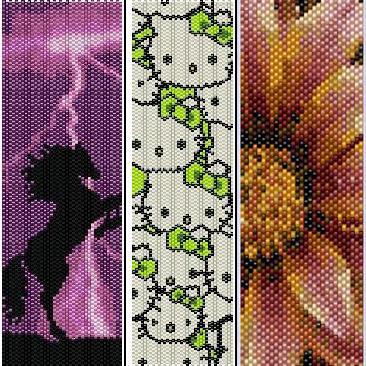 Схемы ткацких браслетов