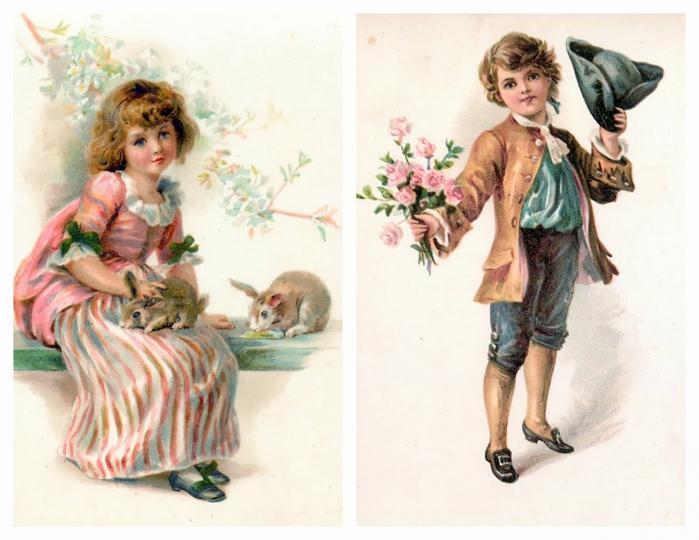 Старинные открытки с детками 96