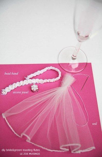 свадебные бокалы своими руками (4) (396x604, 135Kb)