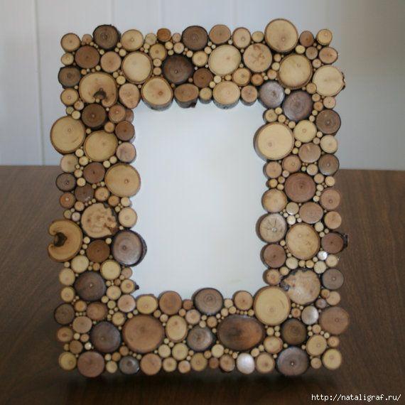 Поделка из деревянных колец