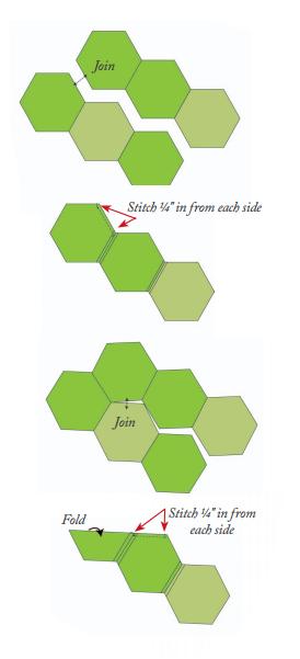 Лоскутное шитье. Салфетка из шестиугольников. Шаблон (2) (274x601, 56Kb)