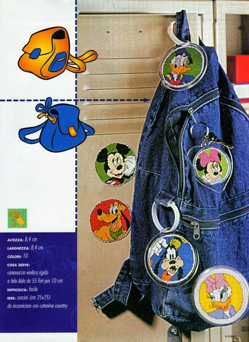 Микки Маус. Схемы вышивки для детских вещей (4) (510x700, 540Kb)