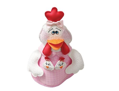 Gallina con pollos de foamirana y plástico botella (35) (501x384, 126Kb)