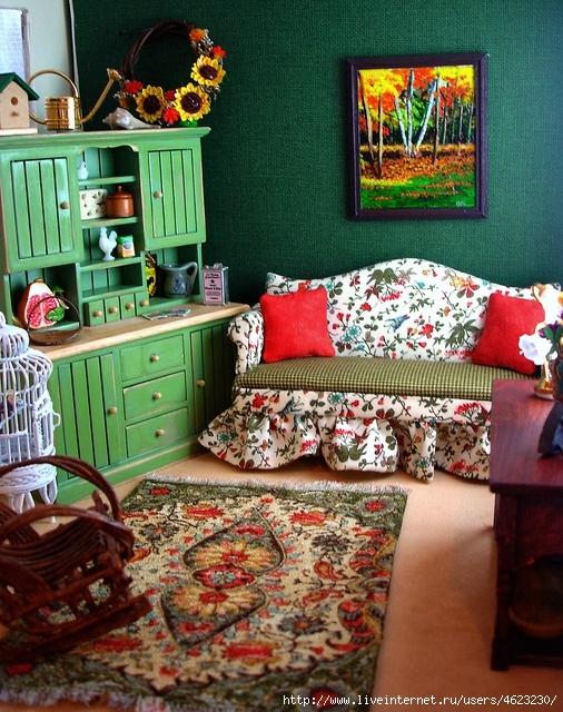 Мебель в гостиную для кукол своими руками 656