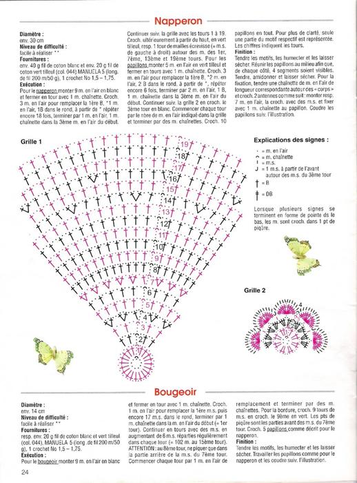 Вяжем крючком круглые салфетки. Схемы (3) (518x700, 289Kb)