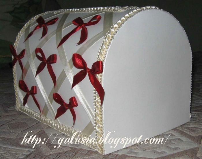 Как украсить сундучок свадебный своими руками