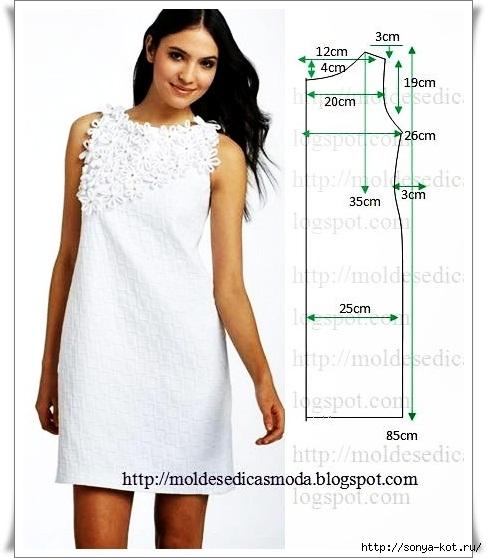 Летнее платье для полных своими руками для начинающих