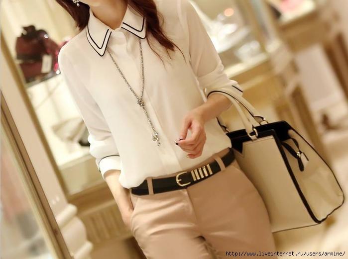 Модные Белые Блузки И Рубашки