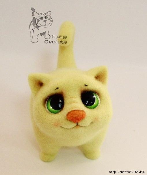 Милый котенок, МК по валянию (10) (509x604, 96Kb)
