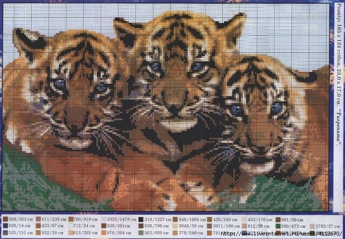 Схемы для вышивки животных крестом 99