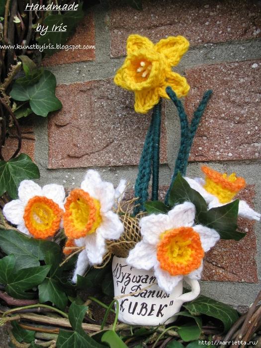 Цветы крючком. НАРЦИССЫ (3) (525x700, 387Kb)