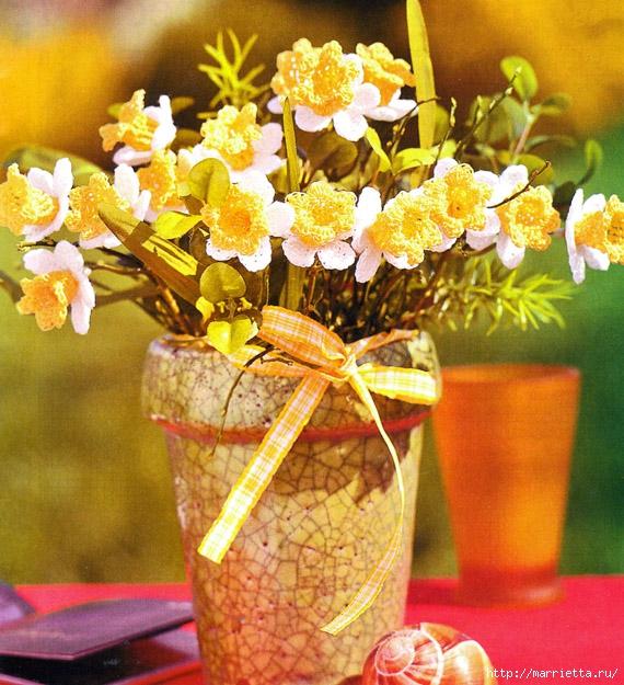 Цветы крючком. НАРЦИССЫ (6) (570x625, 314Kb)