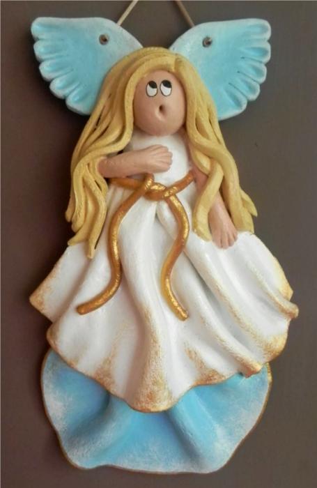 Ангелочек из солёного теста своими руками 16
