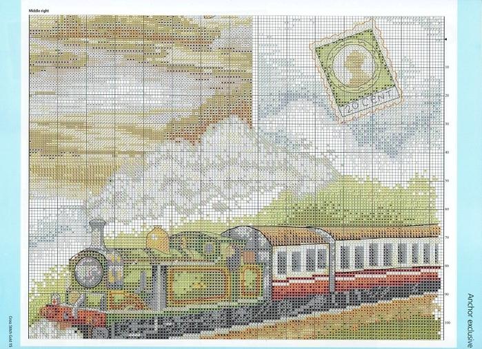 Схема вышивки путешественники 87