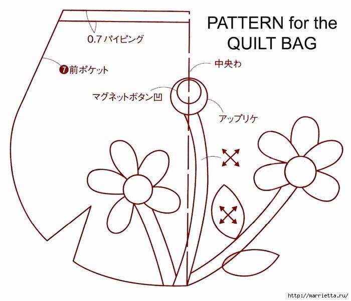 Украшаем платье аппликацией и шьем сумочку (9) (700x602, 166Kb)
