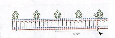 Вязание крючком. Овальные салфетки и подстаканники для стеклянного столика (4) (400x133, 46Kb)