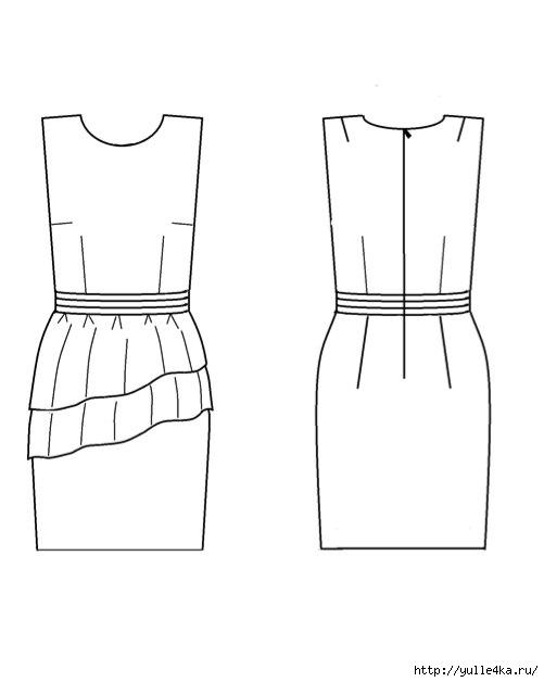 Платье праздничноев стиле 60-х (как мне кажется)