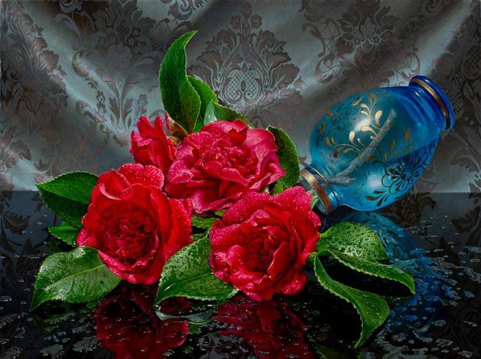 красивые натюрморты художник Эрик Верт 2 (700x523, 456Kb)