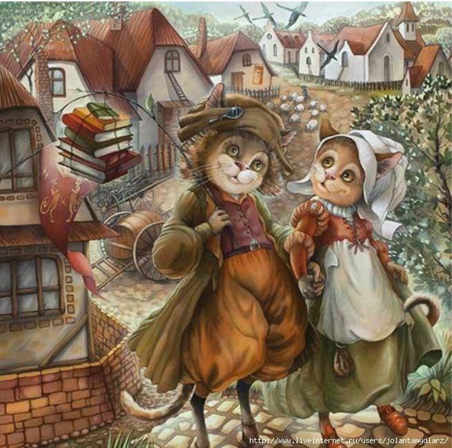 коты-и-кошки-Надежды-Соколовой (655x649, 255Kb)