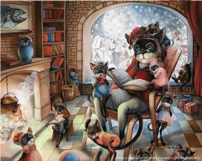 коты-и-кошки-Надежды-соколовой-31 (700x557, 318Kb)