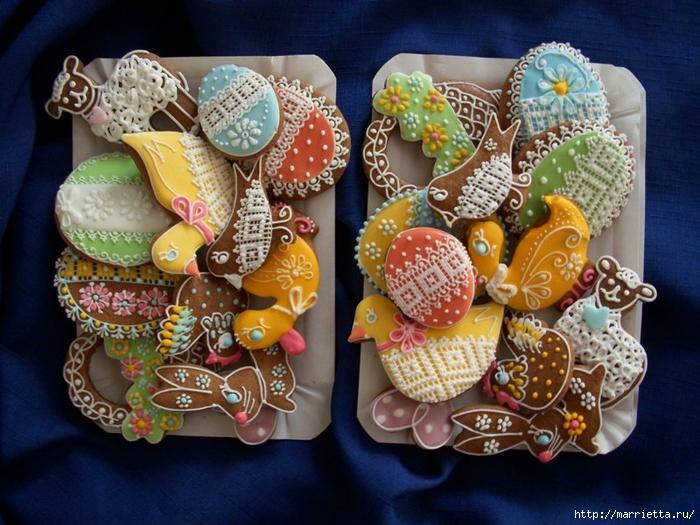 Pascua de pan de jengibre.  Belleza y una clase magistral de pintura (77) (700x525, 316Kb)