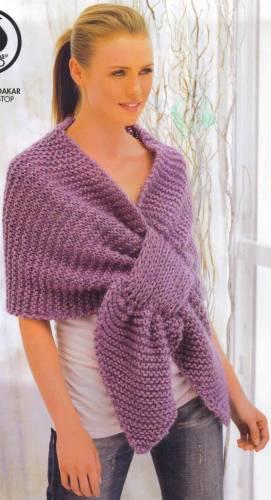 Вязание шарфов спицами