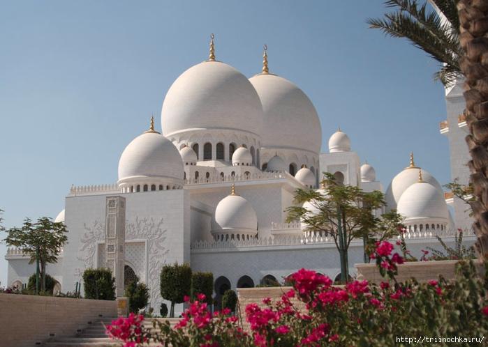 Восточные узоры мечети шейха Заеда