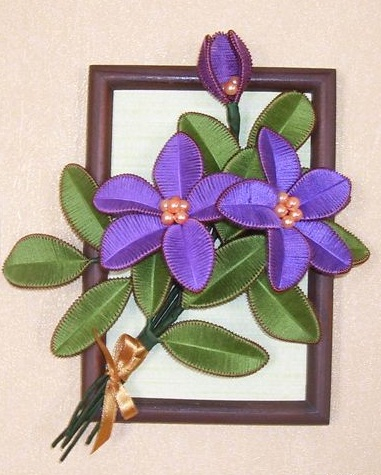 цветы в технике ганутель из проволоки и ниток. мастер-класс (37) (381x475, 180Kb)