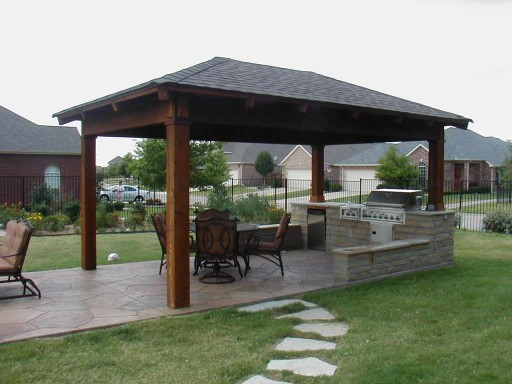 17 Stunning Covered Outdoor Kitchen Design Ideas  Style