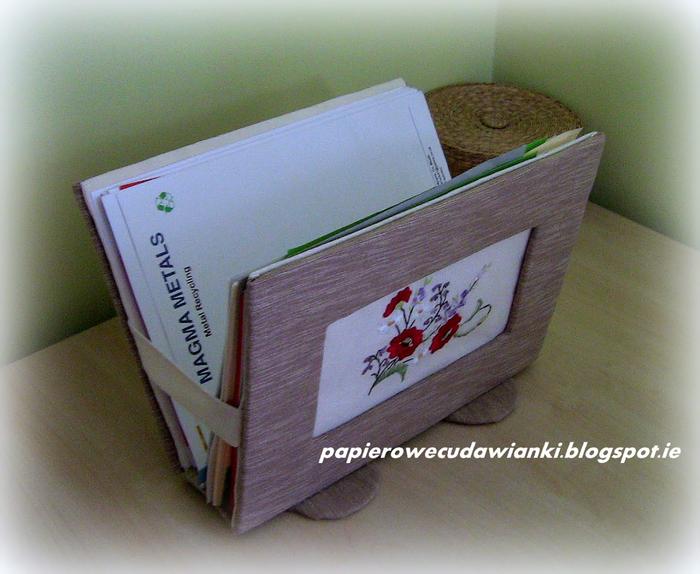 Газетница из картона своими руками. Мастер-класс (19) (700x574, 472Kb)
