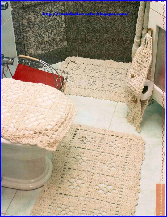 Коврики и схемы для ванной комнаты
