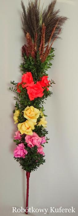 Пасхальная ВЕРБА. Декоративная композиция из веточек вербы и цветов из гофрированной бумаги (34) (252x700, 146Kb)