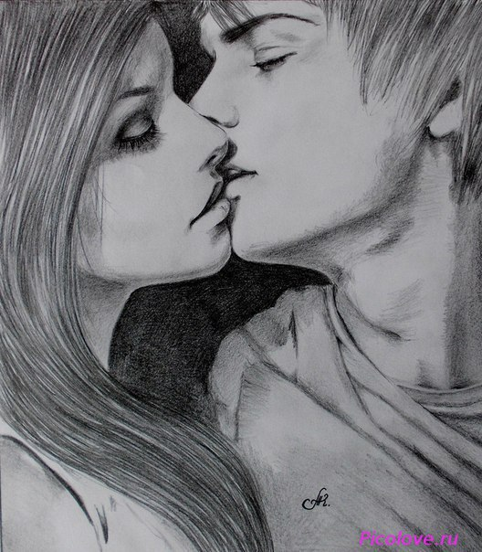 resized_love_pair_kisses_pencil (528x604, 91Kb)