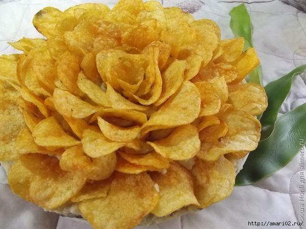 роза из чипсов