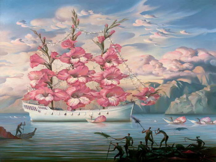3. Владимир Куш. Весна на море (700x525, 383Kb)