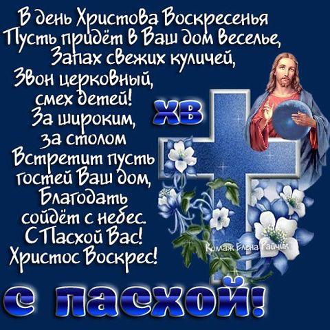 Поздравления с христовым воскресеньям