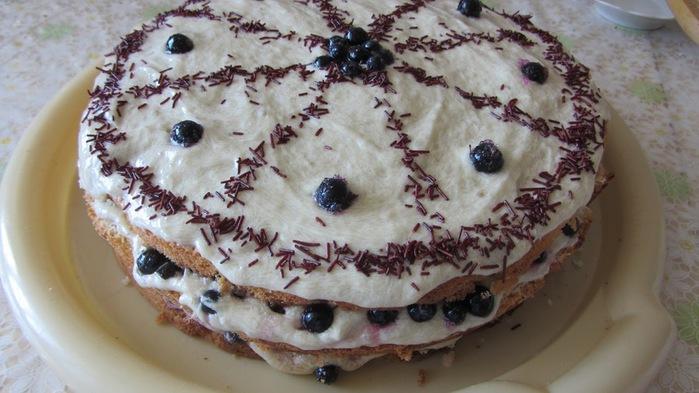Бисквитный торт с бананами рецепт с фото