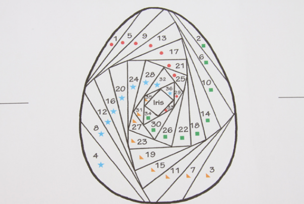 Пасхальная открытка в технике Айрис фолдинг (11) (604x406, 279Kb)