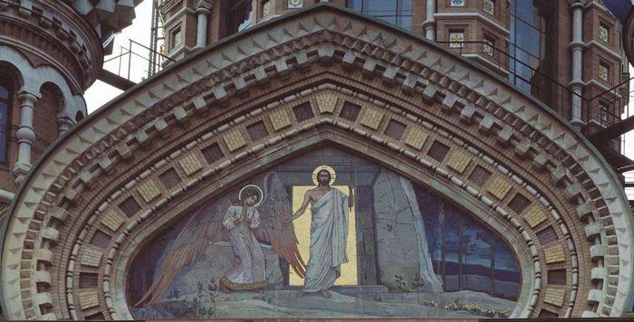 Воскресение Христово Мозаика (700x356, 58Kb)