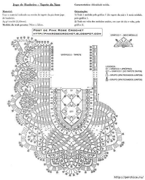 Tapete oval Croche TVasgr.  PRoseCrochet (563x700, 258KB)