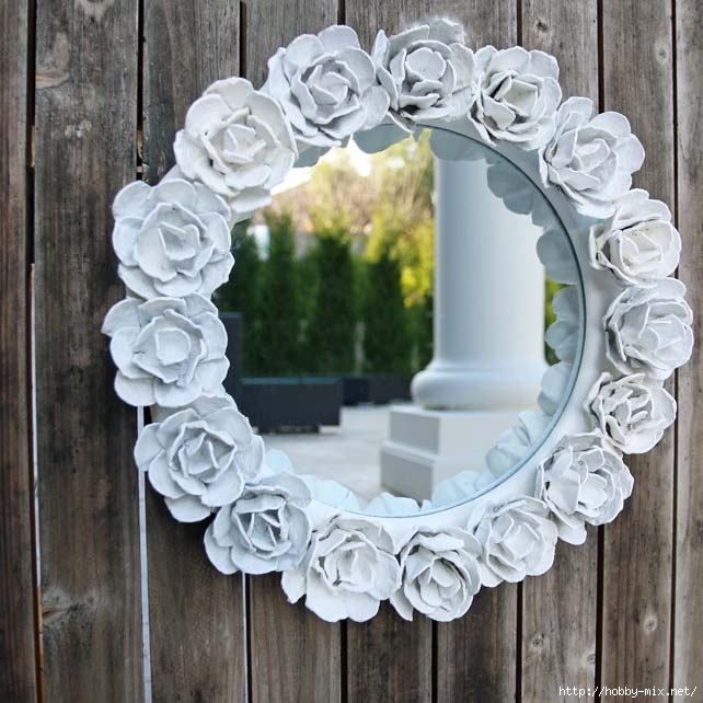 egg carton rose mirror - square 1 (642x642, 211Kb)