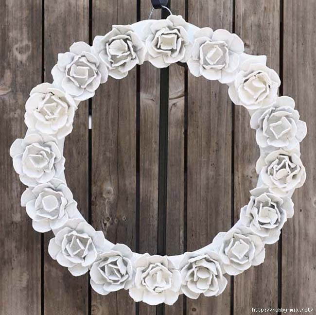 egg carton rose wreath - square 4 (650x648, 203Kb)
